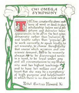 Creed of Chi Omega Women's Fraternity