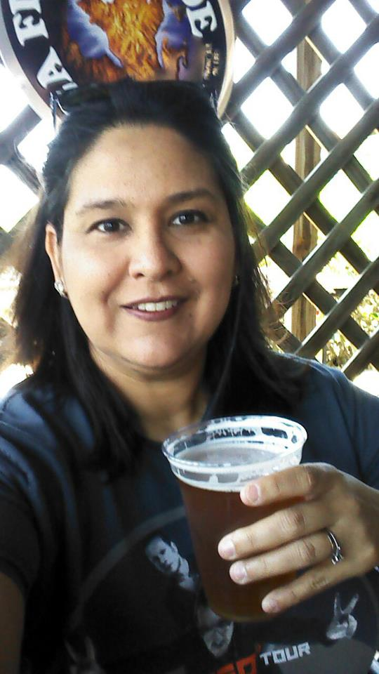 Enjoying a Rapp Pale Ale at Cajun Cafe on the Bayou.