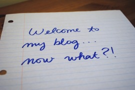 welcome to my blog now what