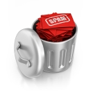S4 places all Spam into a recycling container for easy disposal.