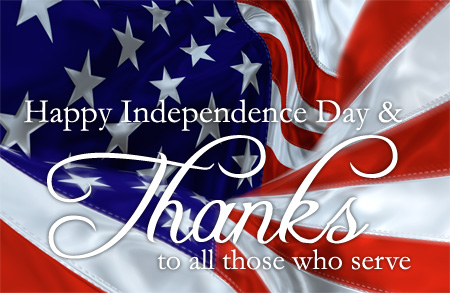 Independence Day - A Day to Say Thank You