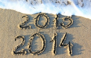 24384685-happy-new-year-2014-replace-2013-concept-on-the-sea-beach